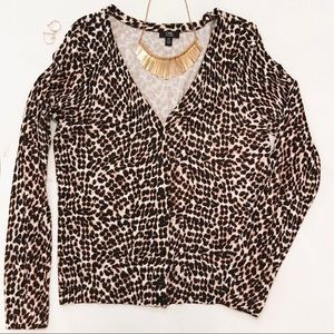 Leopard Button Up Cardigan - Size L